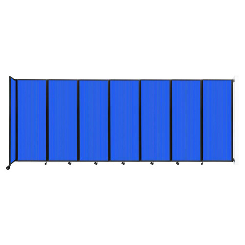 """Wall-Mounted Room Divider 360 Folding Partition 19'6"""" x 7'6"""" Blue Polycarbonate"""
