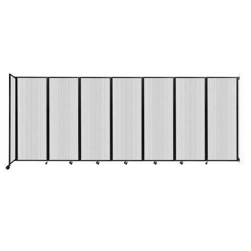 """Wall-Mounted Room Divider 360 Folding Partition 19'6"""" x 7'6"""" Clear Polycarbonate"""