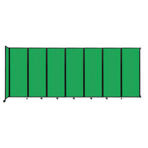"""Wall-Mounted Room Divider 360 Folding Partition 19'6"""" x 7'6"""" Green Polycarbonate"""