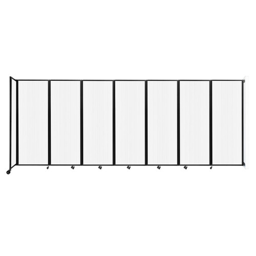 """Wall-Mounted Room Divider 360 Folding Partition 19'6"""" x 7'6"""" Opal Polycarbonate"""