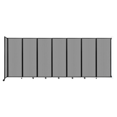 """Wall-Mounted Room Divider 360 Folding Partition 19'6"""" x 7'6"""" Light Gray Polycarbonate"""