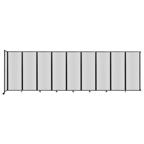 """Wall-Mounted Room Divider 360 Folding Partition 25' x 7'6"""" Clear Polycarbonate"""