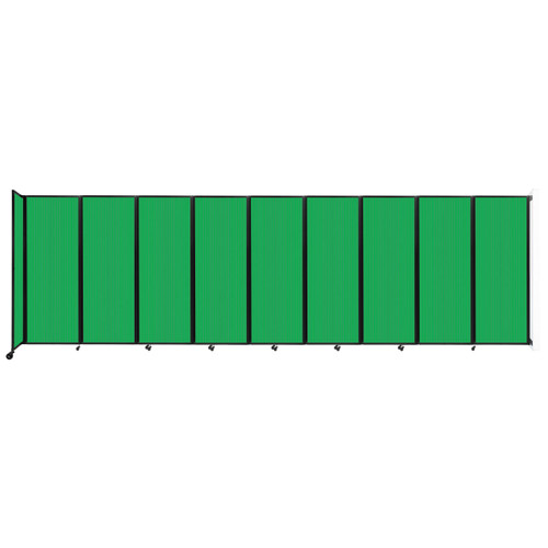 """Wall-Mounted Room Divider 360 Folding Partition 25' x 7'6"""" Green Polycarbonate"""