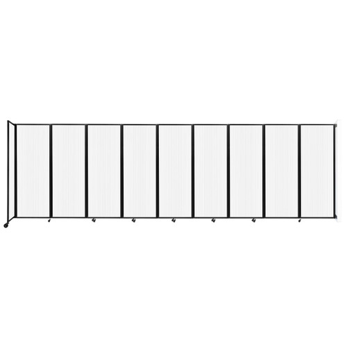 """Wall-Mounted Room Divider 360 Folding Partition 25' x 7'6"""" Opal Polycarbonate"""