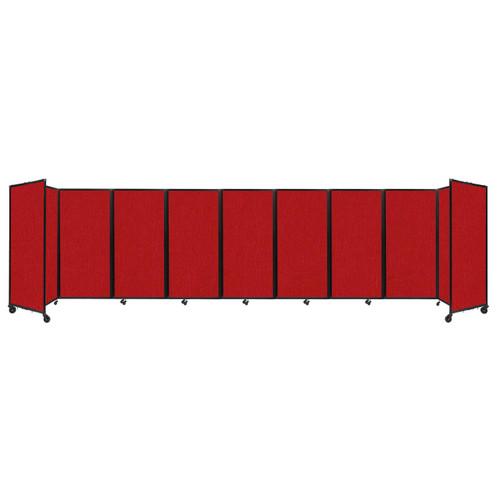 Room Divider 360 Folding Portable Partition 25' x 6' Red Fabric