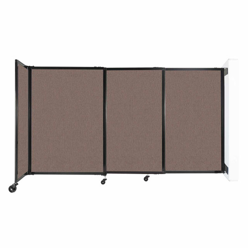 """Wall-Mounted StraightWall Sliding Partition 7'2"""" x 4' Latte Fabric"""