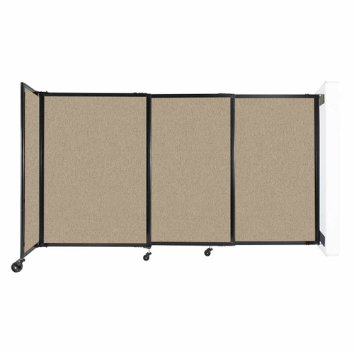 """Wall-Mounted StraightWall Sliding Partition 7'2"""" x 4' Rye Fabric"""