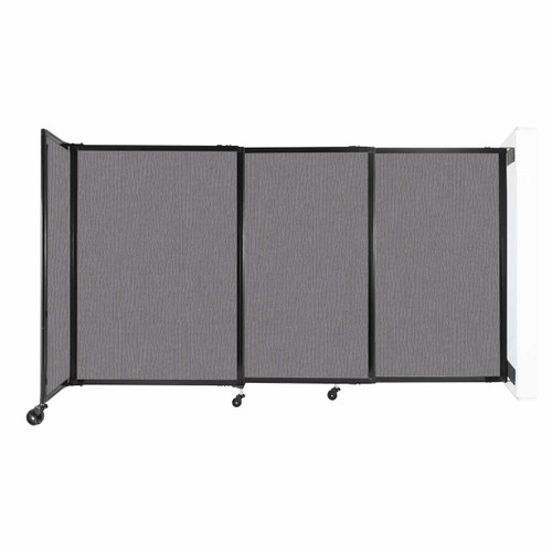"""Wall-Mounted StraightWall Sliding Partition 7'2"""" x 4' Slate Fabric"""