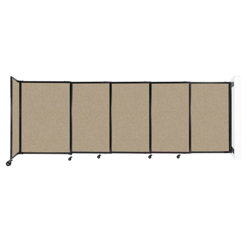 """Wall-Mounted StraightWall Sliding Partition 11'3"""" x 4' Rye Fabric"""