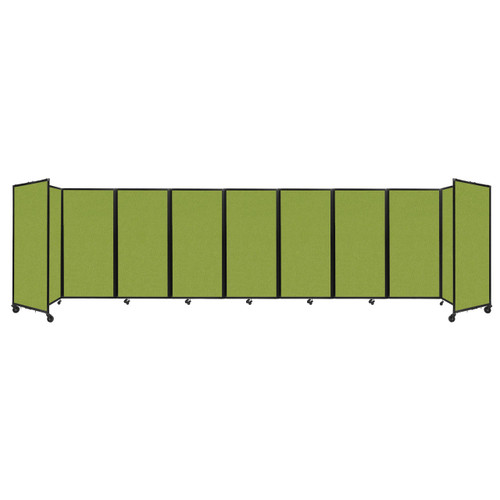 Room Divider 360 Folding Portable Partition 25' x 6' Lime Green Fabric