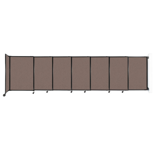 """Wall-Mounted StraightWall Sliding Partition 15'6"""" x 4' Latte Fabric"""