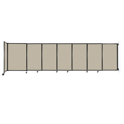 """Wall-Mounted StraightWall Sliding Partition 15'6"""" x 4' Sand Fabric"""