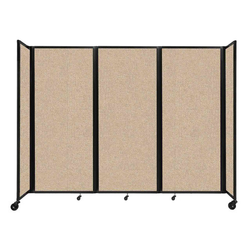"""Room Divider 360 Folding Portable Partition 8'6"""" x 6'10"""" Beige Fabric"""