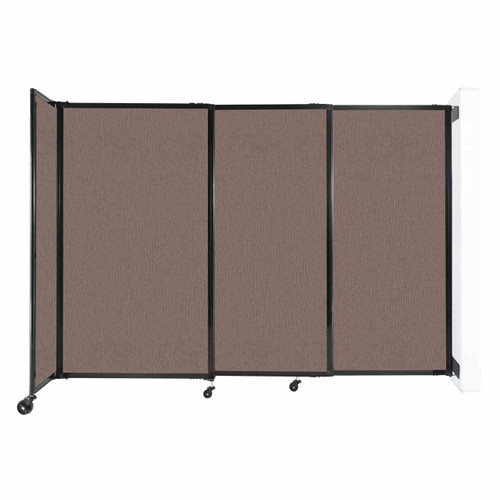 """Wall-Mounted StraightWall Sliding Partition 7'2"""" x 5' Latte Fabric"""