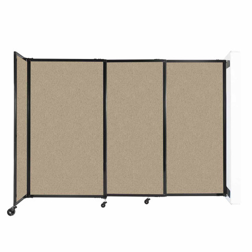 """Wall-Mounted StraightWall Sliding Partition 7'2"""" x 5' Rye Fabric"""