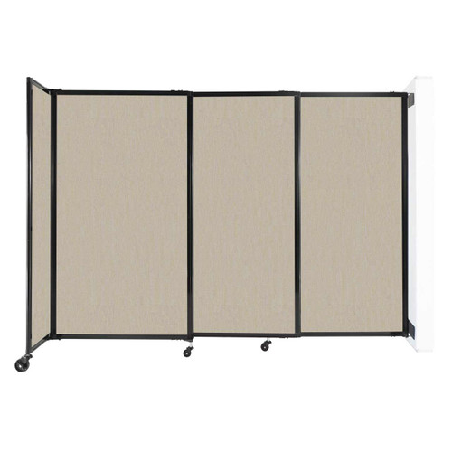"""Wall-Mounted StraightWall Sliding Partition 7'2"""" x 5' Sand Fabric"""