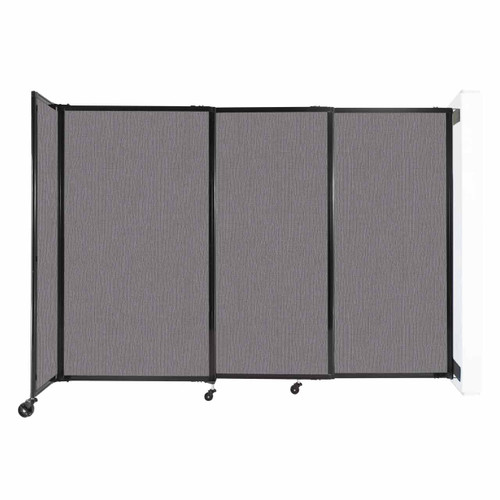 """Wall-Mounted StraightWall Sliding Partition 7'2"""" x 5' Slate Fabric"""