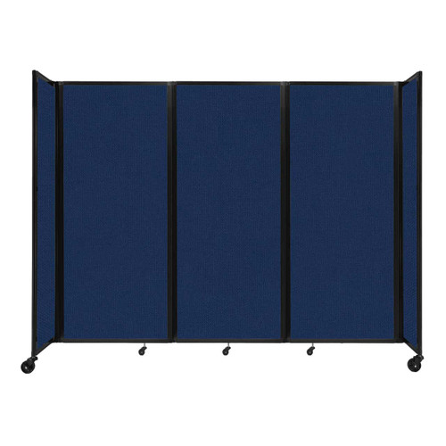 """Room Divider 360 Folding Portable Partition 8'6"""" x 6'10"""" Navy Blue Fabric"""