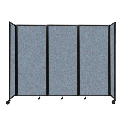 """Room Divider 360 Folding Portable Partition 8'6"""" x 6'10"""" Powder Blue Fabric"""
