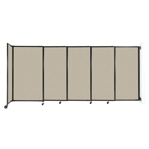"""Wall-Mounted StraightWall Sliding Partition 11'3"""" x 5' Sand Fabric"""