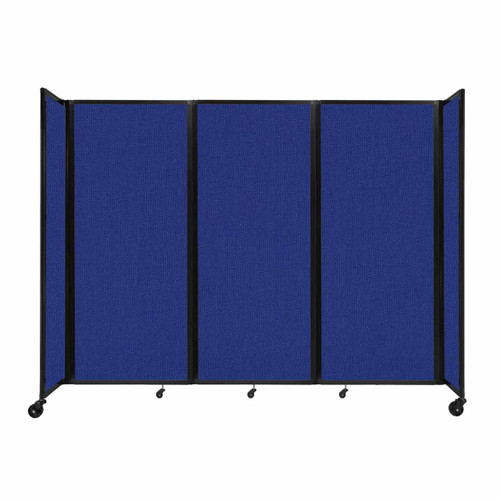 """Room Divider 360 Folding Portable Partition 8'6"""" x 6'10"""" Royal Blue Fabric"""