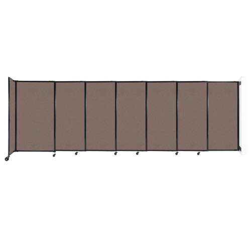 """Wall-Mounted StraightWall Sliding Partition 15'6"""" x 5' Latte Fabric"""