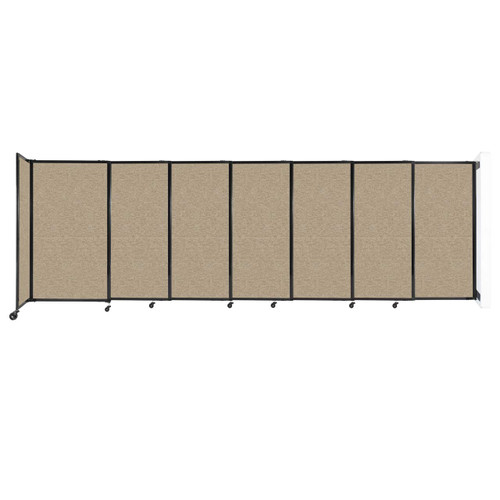 """Wall-Mounted StraightWall Sliding Partition 15'6"""" x 5' Rye Fabric"""