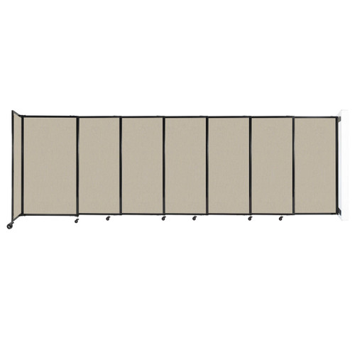"""Wall-Mounted StraightWall Sliding Partition 15'6"""" x 5' Sand Fabric"""