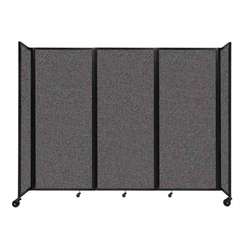 """Room Divider 360 Folding Portable Partition 8'6"""" x 6'10"""" Charcoal Gray Fabric"""