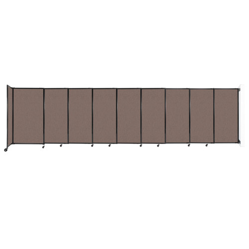 """Wall-Mounted StraightWall Sliding Partition 19'9"""" x 5' Latte Fabric"""