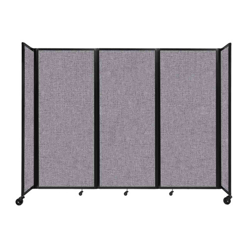 """Room Divider 360 Folding Portable Partition 8'6"""" x 6'10"""" Cloud Gray Fabric"""