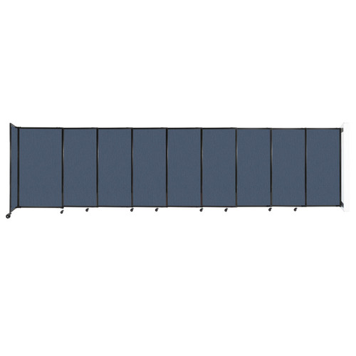 """Wall-Mounted StraightWall Sliding Partition 19'9"""" x 5' Ocean Fabric"""