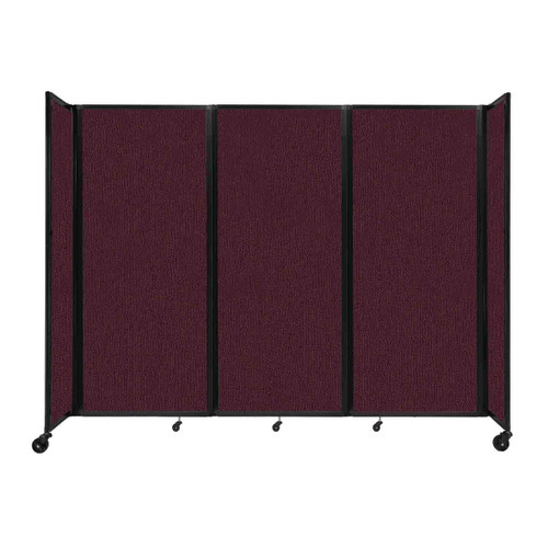 """Room Divider 360 Folding Portable Partition 8'6"""" x 6'10"""" Cranberry Fabric"""