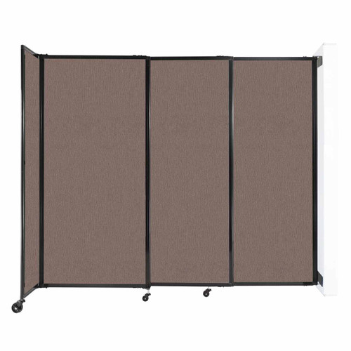 """Wall-Mounted StraightWall Sliding Partition 7'2"""" x 6' Latte Fabric"""