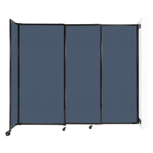 """Wall-Mounted StraightWall Sliding Partition 7'2"""" x 6' Ocean Fabric"""