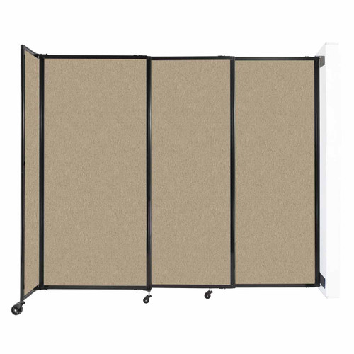 """Wall-Mounted StraightWall Sliding Partition 7'2"""" x 6' Rye Fabric"""