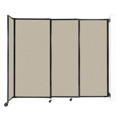 """Wall-Mounted StraightWall Sliding Partition 7'2"""" x 6' Sand Fabric"""