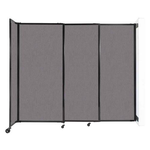 """Wall-Mounted StraightWall Sliding Partition 7'2"""" x 6' Slate Fabric"""