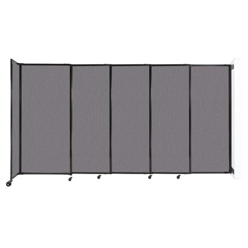 """Wall-Mounted StraightWall Sliding Partition 11'3"""" x 6' Slate Fabric"""