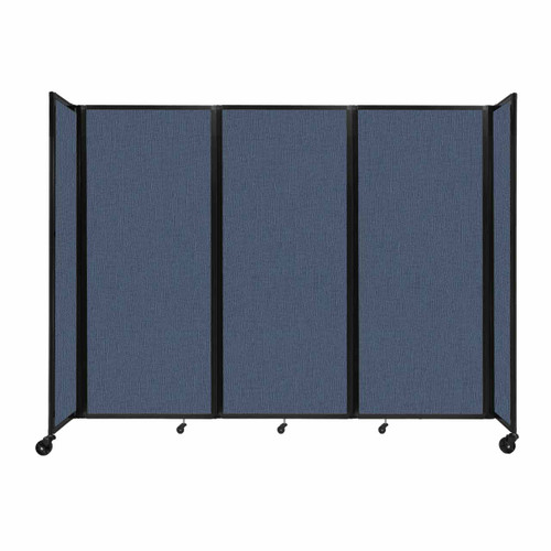 """Room Divider 360 Folding Portable Partition 8'6"""" x 6'10"""" Ocean Fabric"""