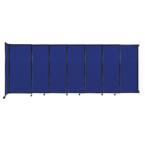 """Wall-Mounted StraightWall Sliding Partition 15'6"""" x 6' Royal Blue Fabric"""