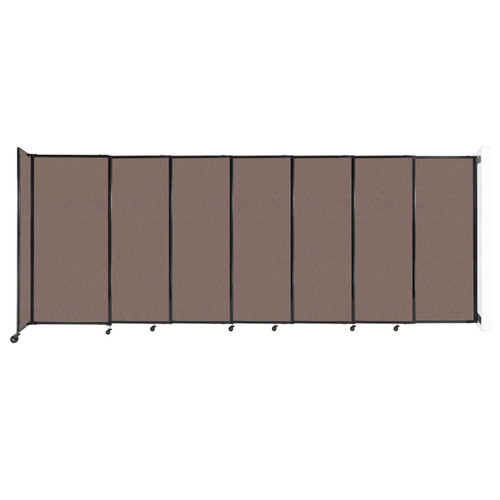 """Wall-Mounted StraightWall Sliding Partition 15'6"""" x 6' Latte Fabric"""