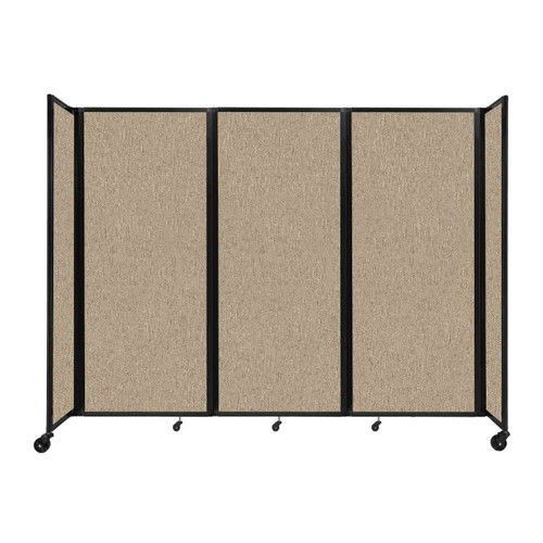 """Room Divider 360 Folding Portable Partition 8'6"""" x 6'10"""" Rye Fabric"""