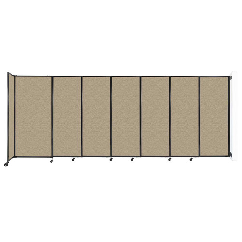"""Wall-Mounted StraightWall Sliding Partition 15'6"""" x 6' Rye Fabric"""