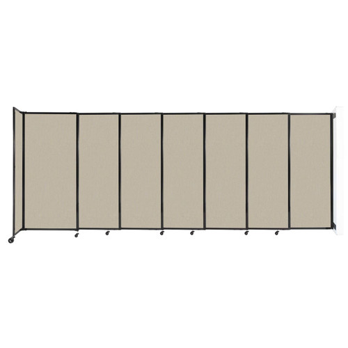 """Wall-Mounted StraightWall Sliding Partition 15'6"""" x 6' Sand Fabric"""