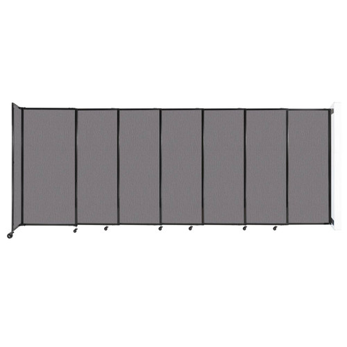 """Wall-Mounted StraightWall Sliding Partition 15'6"""" x 6' Slate Fabric"""