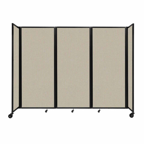 """Room Divider 360 Folding Portable Partition 8'6"""" x 6'10"""" Sand Fabric"""