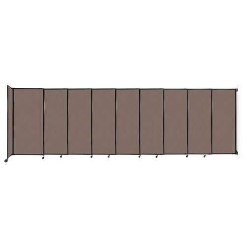 """Wall-Mounted StraightWall Sliding Partition 19'9"""" x 6' Latte Fabric"""
