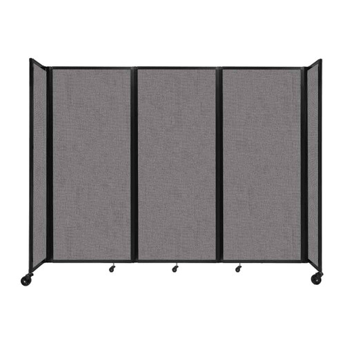 """Room Divider 360 Folding Portable Partition 8'6"""" x 6'10"""" Slate Fabric"""
