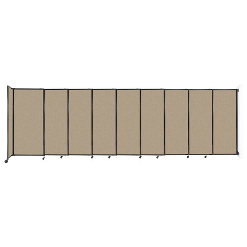 """Wall-Mounted StraightWall Sliding Partition 19'9"""" x 6' Rye Fabric"""